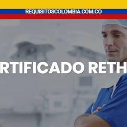 ¿Como sacar fácil el certificado de rethus en Colombia?