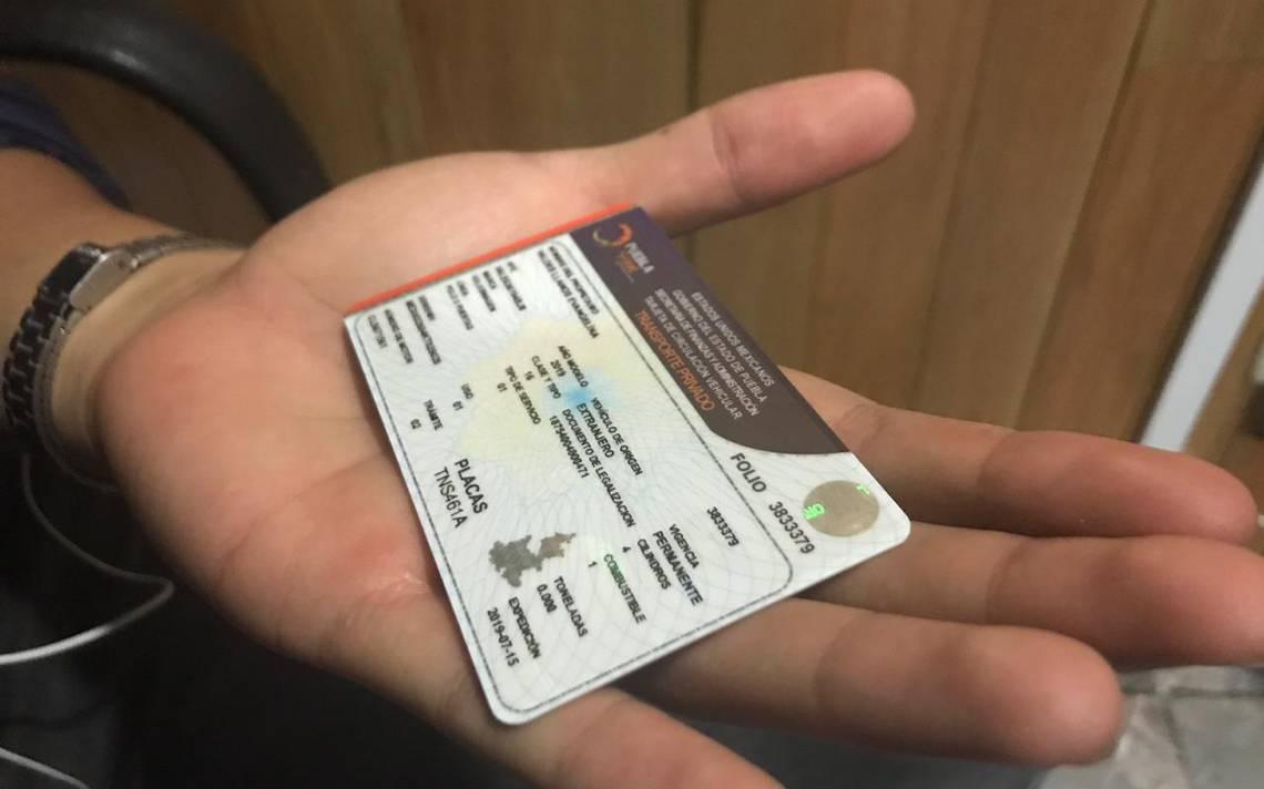 tarjeta de circulación DF