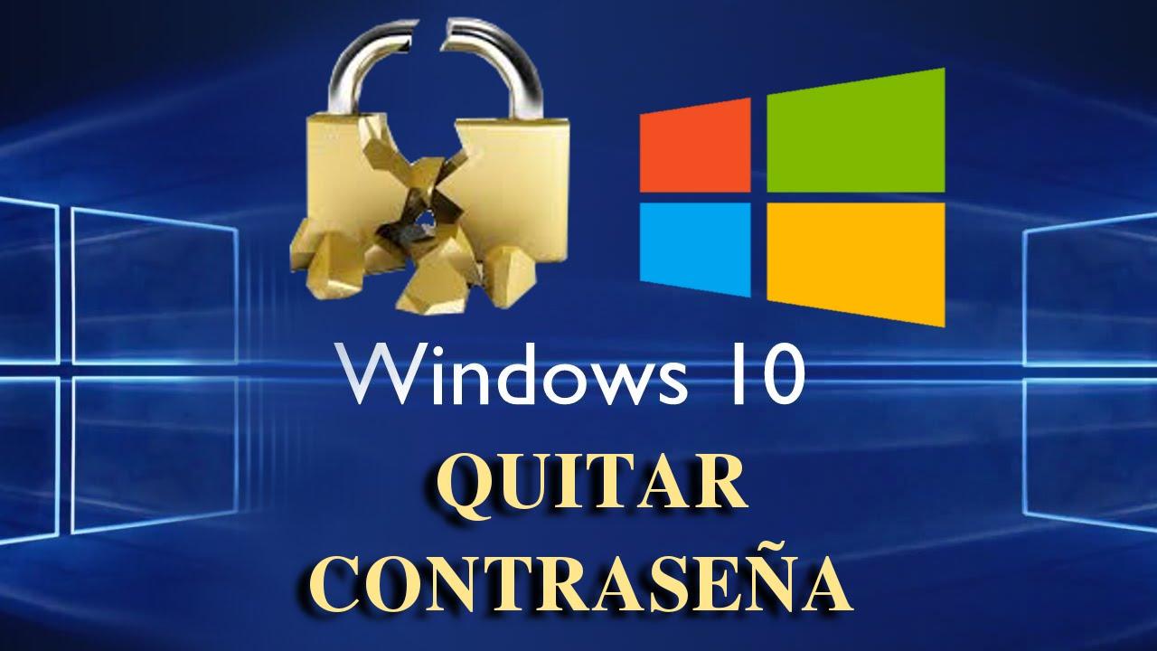 quitar contraseña windows 10